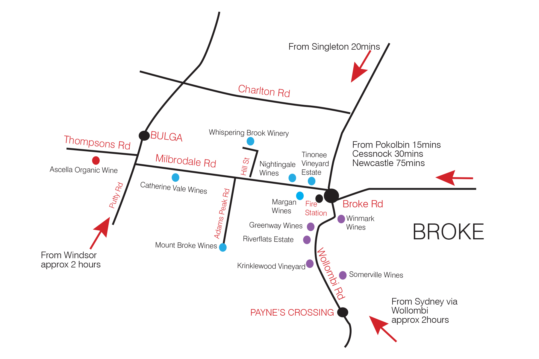Hunter Valley Location Map | A Little Bit of Italy in Broke on map dallas, map wings, map navy,