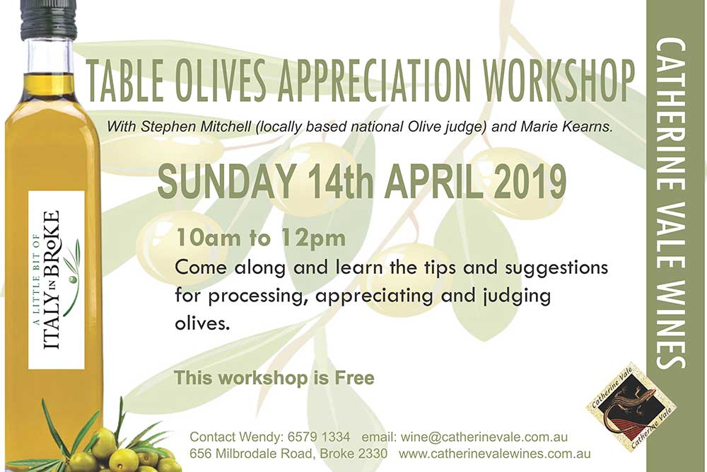 Catherine Vale Wines, Olive Appreciation Workshop
